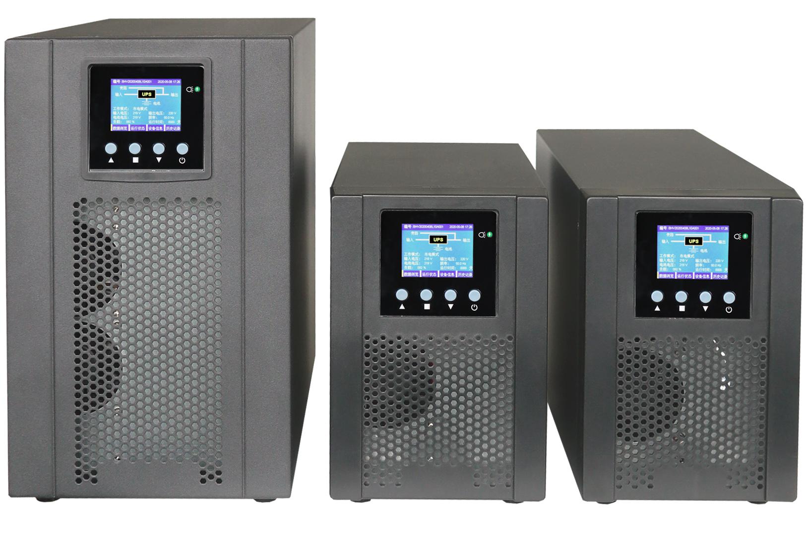 单相在线高频BH10S/1KVA标机(内置7AH*2/3节)UPS电源